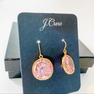 J. Crew Pink and Gold Earrings